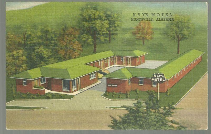 KAY'S MOTEL, HUNTSVILLE, ALABAMA, Postcard