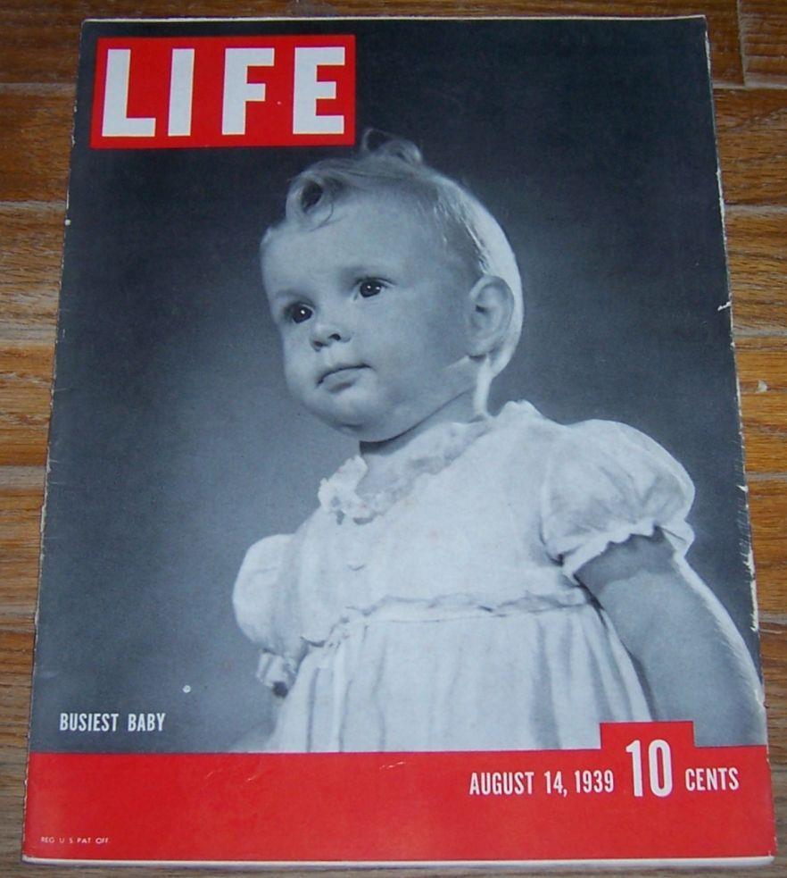 LIFE MAGAZINE AUGUST 14, 1939, Life Magazine