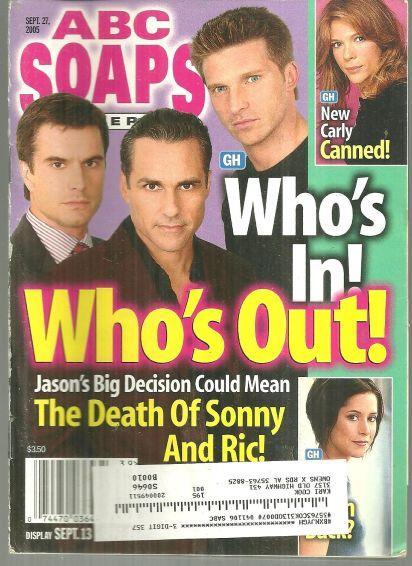 Image for ABC SOAPS IN DEPTH MAGAZINE SEPTEMBER 27, 2005