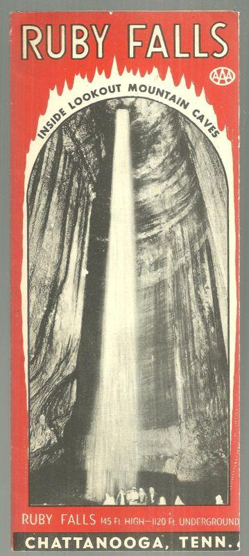 SOUVENIR BROCHURE FOR RUBY FALLS, CHATTANOOGA, TENNESSEE, Ruby Falls