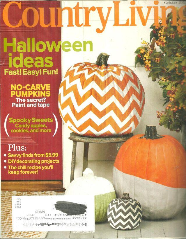 COUNTRY LIVING MAGAZINE OCTOBER 2012, Country Living