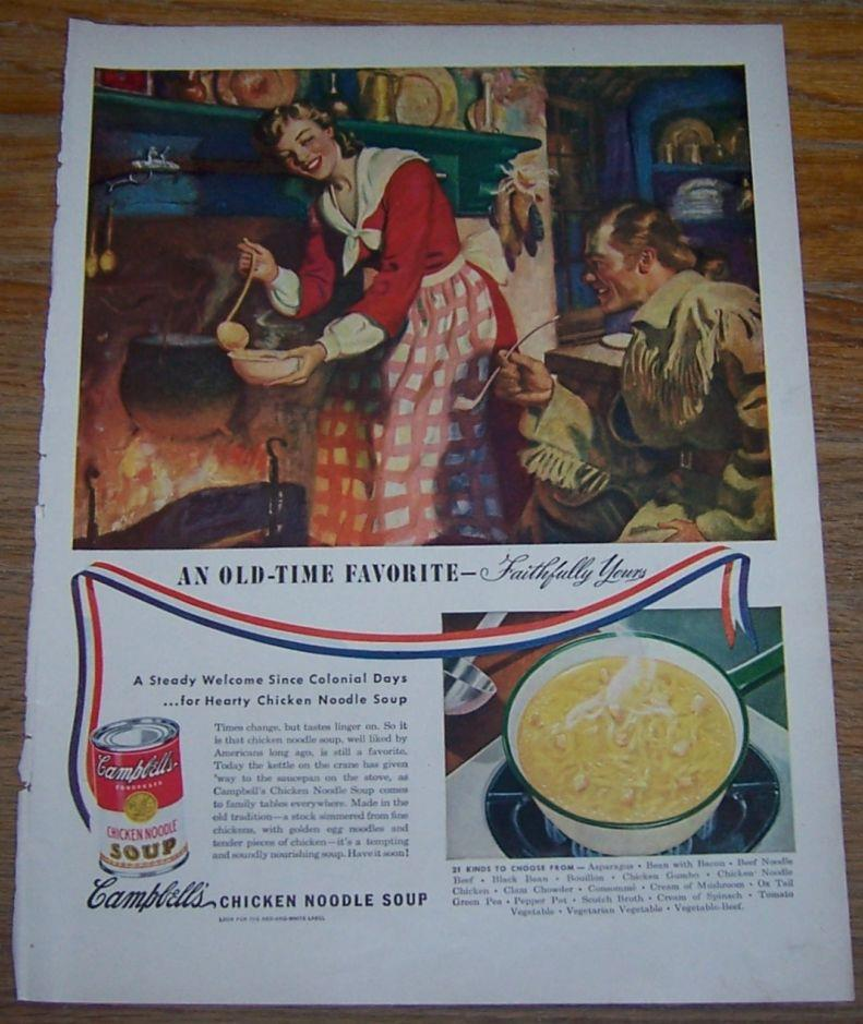 1947 CAMPBELL'S SOUPS MAGAZINE ADVERTISEMENT, Advertisement