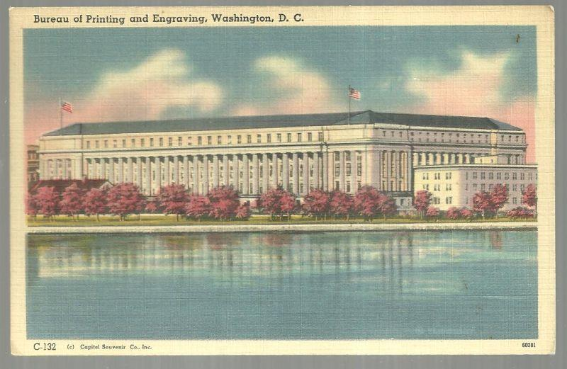 BUREAU OF PRINTING AND ENGRAVING, WASHINGTON, D. C., Postcard