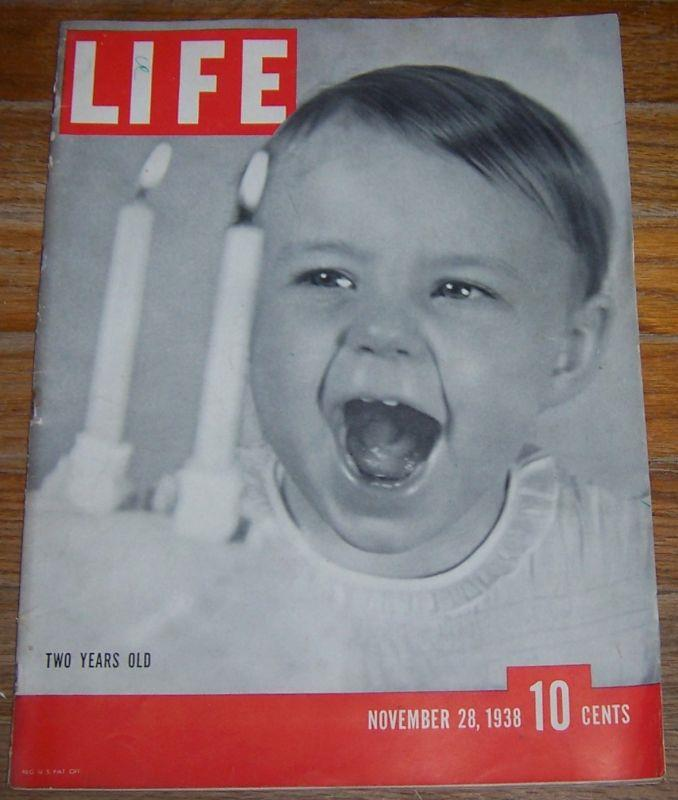 LIFE MAGAZINE NOVEMBER 28, 1938, Life Magazine