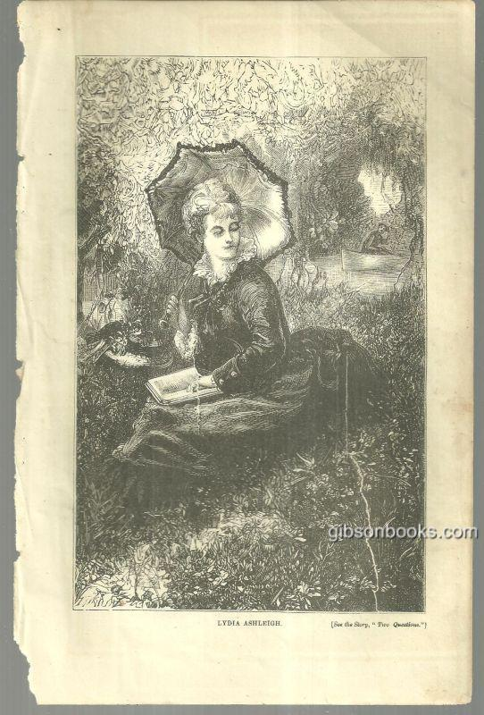 Image for LYDIA ASHLEIGH FROM 1876 PETERSON'S MAGAZINE