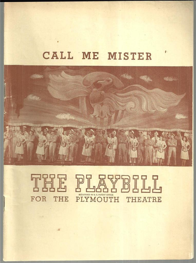 CALL ME MISTER, NOVEMBER 24, 1947, Playbill