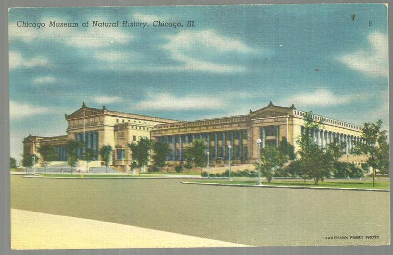 CHICAGO MUSEUM OF NATURAL HISTORY, CHICAGO, ILLINOIS, Postcard