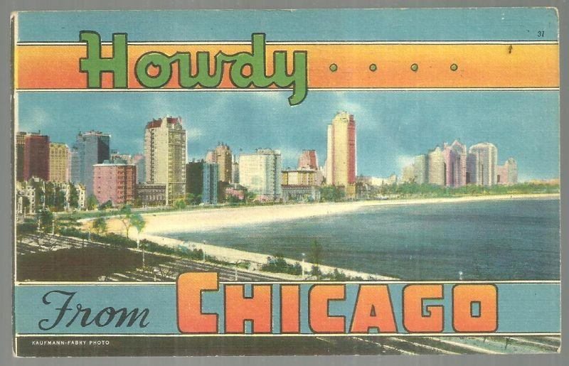 HOWDY FROM CHICAGO, ILLINOIS, Postcard