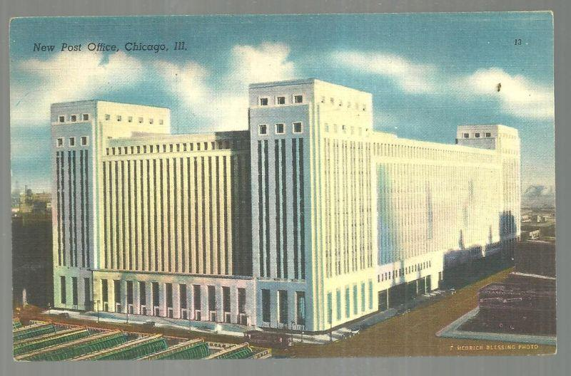 NEW POST OFFICE, CHICAGO, ILLINOIS, Postcard