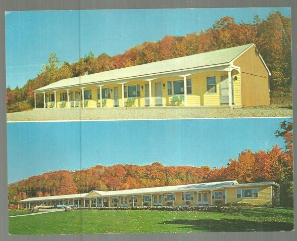 LARGE POSTCARD OF SHERBURNE MOTEL, SHERBURNE, VERMONT, Postcard