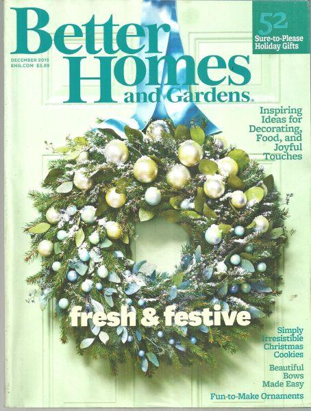 BETTER HOMES AND GARDENS MAGAZINE DECEMBER 2012, Better Homes and Gardens