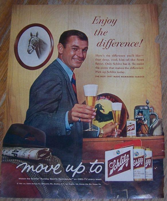 Image for 1961 SCHLITZ MAGAZINE COLOR ADVERTISEMENT