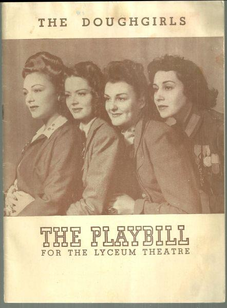 DOUGHGIRLS, FEBRUARY 21, 1943, Playbill