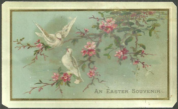 Image for EASTER GREETING CARD WITH TWO WHITE DOVES