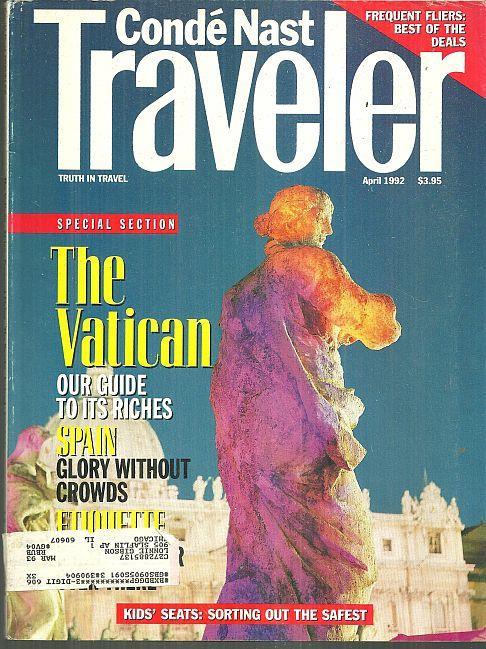 CONDE NAST TRAVELER MAGAZINE APRIL 1992, Conde Nast