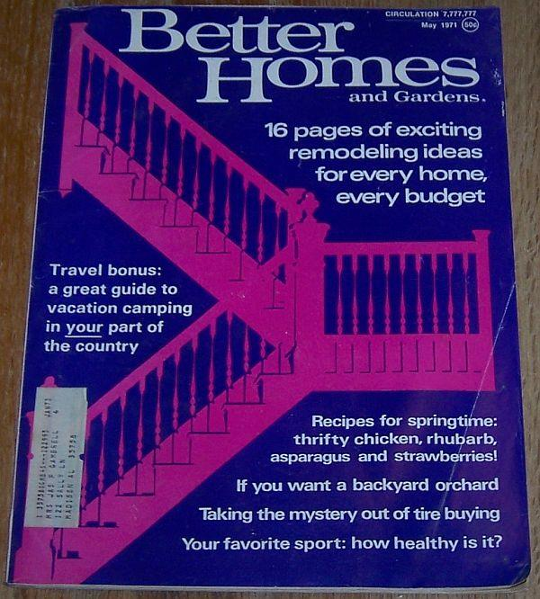 BETTER HOMES AND GARDENS MAGAZINE MAY 1971, Better Homes and Gardens