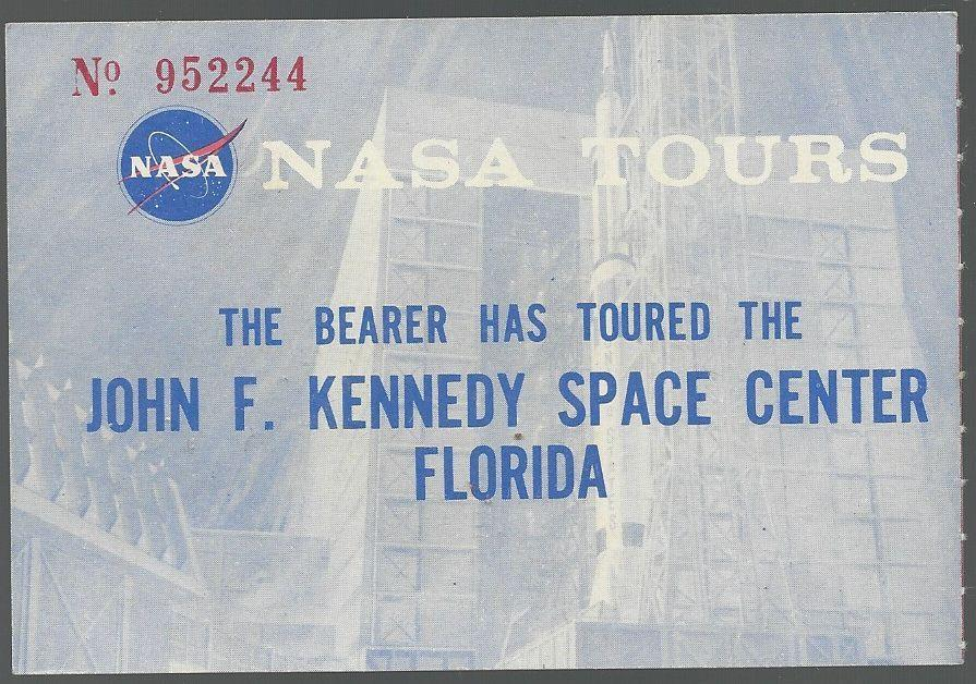 TICKET FOR JOHN F. KENNEDY SPACE CENTER, FLORIDA, Nasa