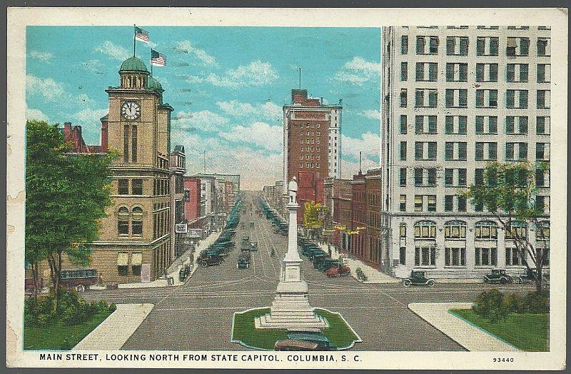 MAIN STREET, COLUMBIA, SOUTH CAROLINA, Postcard