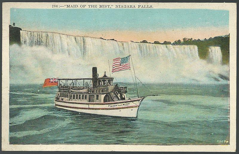 MAID OF THE MIST, NIAGARA FALLS, Postcard
