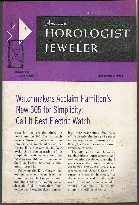 AMERICAN HOROLOGIST AND JEWELER MAGAZINE SEPTEMBER 1961, American Horologist