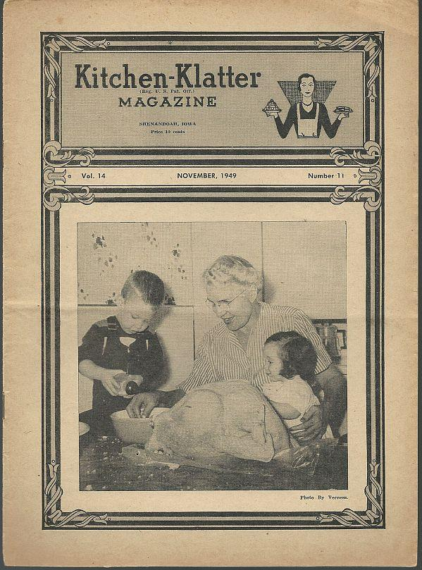 KITCHEN KLATTER MAGAZINE NOVEMBER 1949, Driftmier, Leanna Field