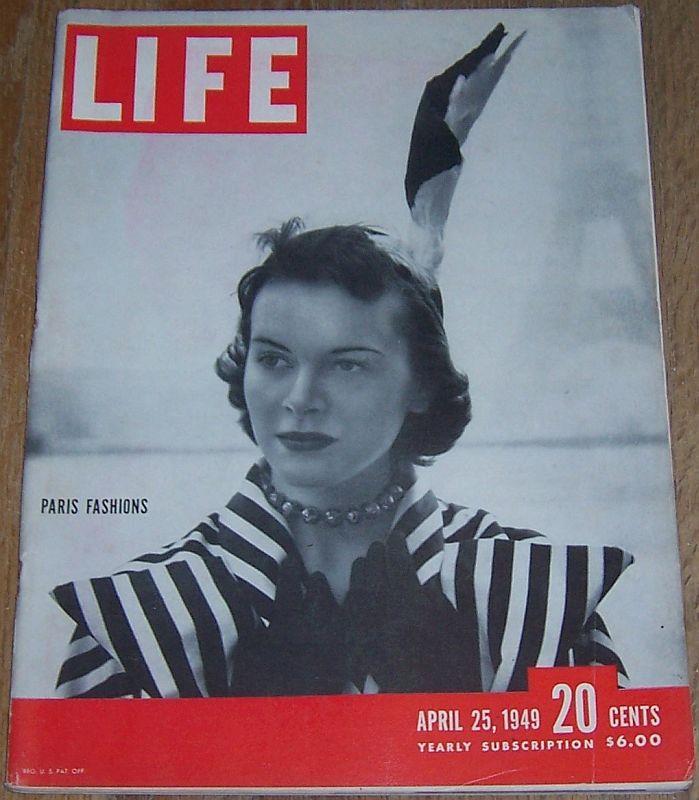 LIFE MAGAZINE APRIL 25, 1949, Life Magazine