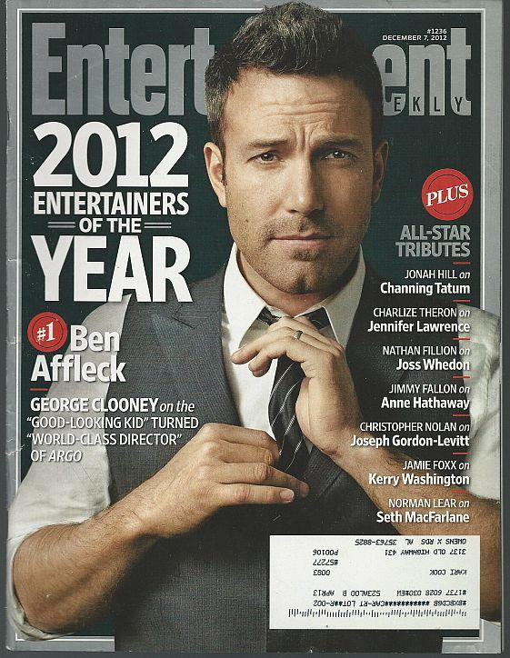 ENTERTAINMENT WEEKLY MAGAZINE DECEMBER 7, 2012, Entertainment Weekly