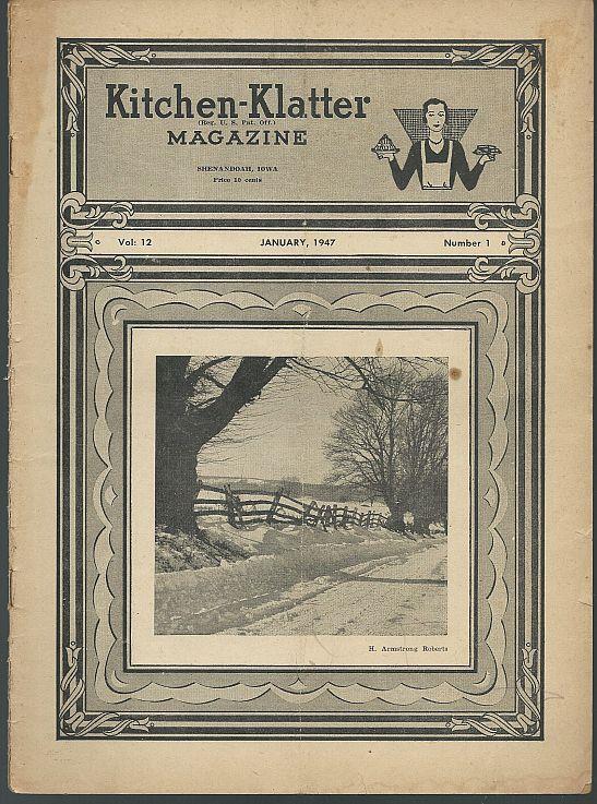 KITCHEN KLATTER MAGAZINE JANUARY 1947, Driftmier, Leanna Field