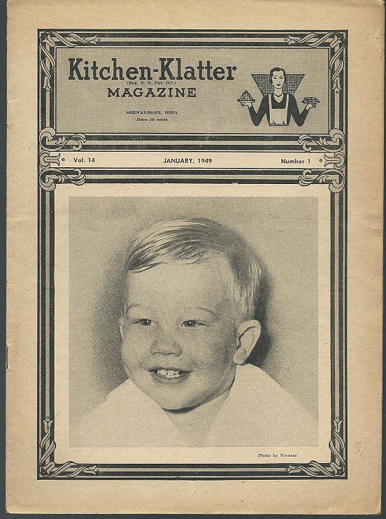 KITCHEN KLATTER MAGAZINE JANUARY 1949, Driftmier, Leanna Field