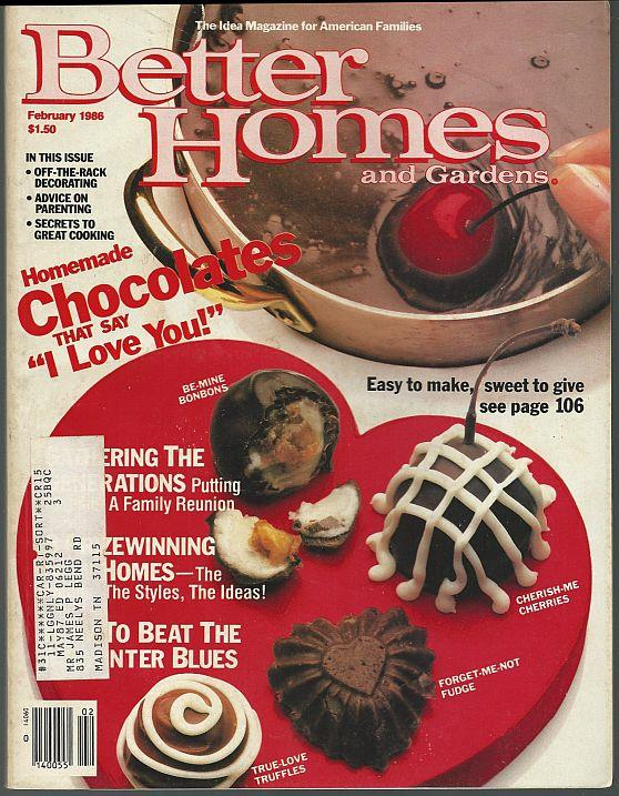 BETTER HOMES AND GARDENS MAGAZINE FEBRUARY 1986, Better Homes and Gardens
