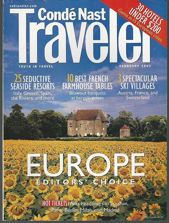 CONDE NAST TRAVELER MAGAZINE FEBRUARY 2001, Conde Nast