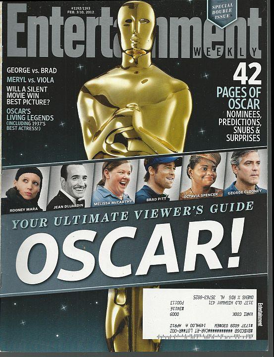 ENTERTAINMENT WEEKLY MAGAZINE FEBRUARY 3/10, 2012, Entertainment Weekly