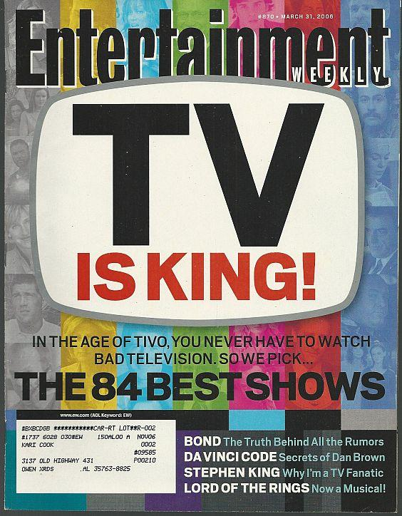 ENTERTAINMENT WEEKLY MAGAZINE MARCH 31, 2006, Entertainment Weekly