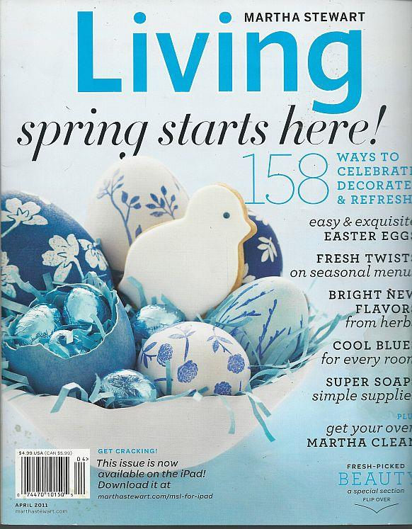 Image for MARTHA STEWART LIVING MAGAZINE APRIL 2011