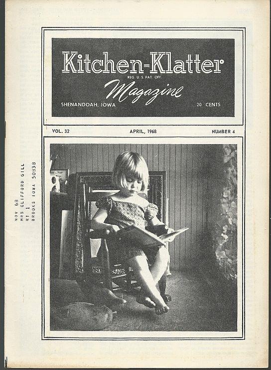 KITCHEN KLATTER MAGAZINE APRIL 1968, Driftmier, Leanna Field