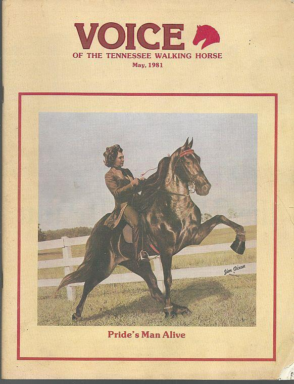 Image for VOICE OF THE TENNESSEE WALKING HORSE MAGAZINE MAY 1981