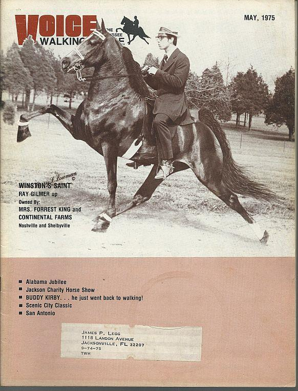 Image for VOICE OF THE TENNESSEE WALKING HORSE MAGAZINE MAY 1975