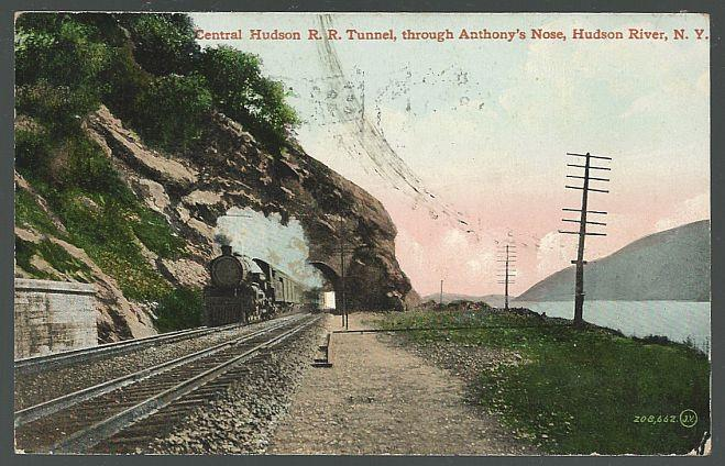 CENTRAL HUDSON R. R. TUNNEL, THROUGH ANTHONY'S NOSE, HUDSON RIVER, NEW YORK, Postcard