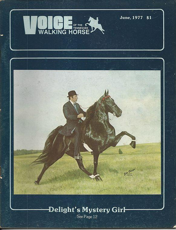 Image for VOICE OF THE TENNESSEE WALKING HORSE MAGAZINE JUNE 1977