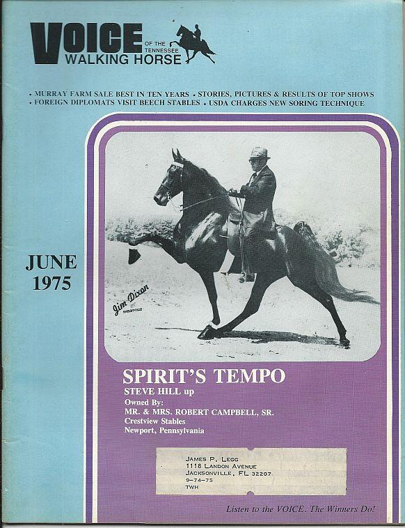 Image for VOICE OF THE TENNESSEE WALKING HORSE MAGAZINE JUNE 1975