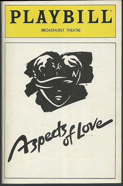 ASPECTS OF LOVE, BROADHURST THEATRE, DECEMBER 1990, Playbill