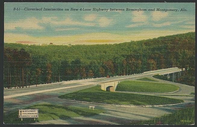 R. H. WHARTON BRIDGE, NEW FOUR LANE HIGHWAY, BIRMINGHAM, ALABAMA, Postcard
