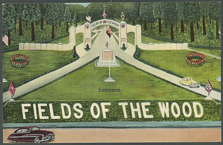 ENTRANCE OF FIELDS OF THE WOOD, TENNESSEE, Postcard