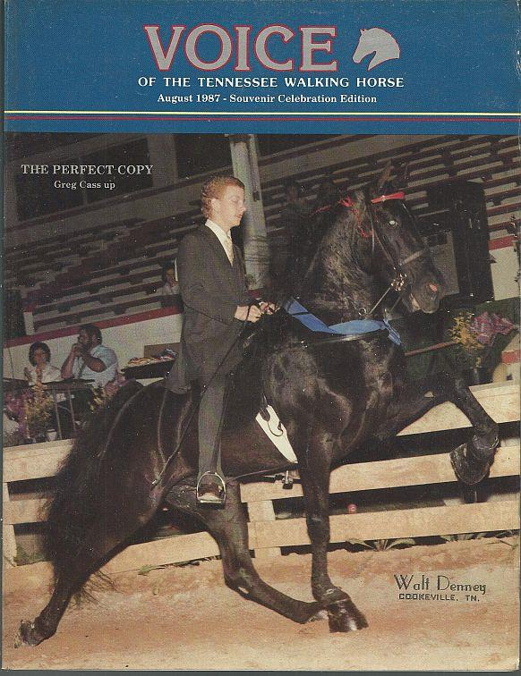 Image for VOICE OF THE TENNESSEE WALKING HORSE MAGAZINE AUGUST 1987 Souvenir Celebration Edition