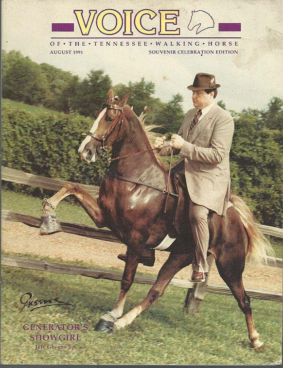 Image for VOICE OF THE TENNESSEE WALKING HORSE MAGAZINE AUGUST 1991 Souvenir Celebration Edition