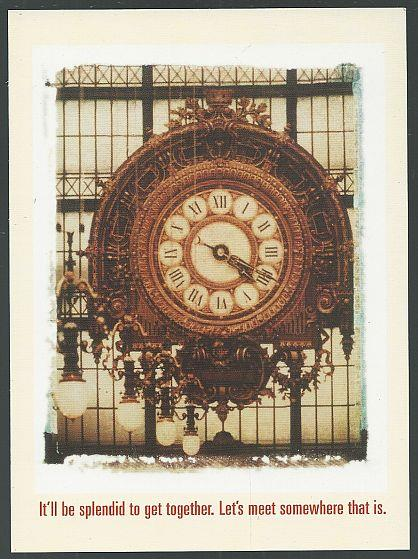 Image for GRAND MARNIER POSTCARD, CLOCK AT THE MUSEE D'ORSAY, PARIS
