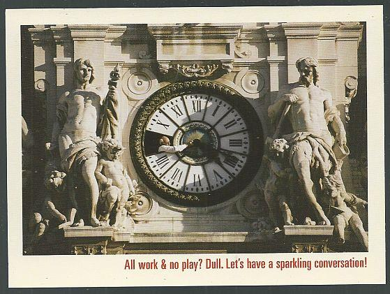 GRAND MARNIER POSTCARD, WORKERS CLEANING CLOCK HOTEL DE VILLE, PARIS, Postcard