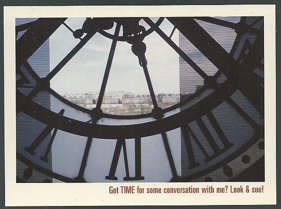 GRAND MARNIER POSTCARD, CLOCK FACE OF THE MUSEE D'ORSAY, PARIS, Postcard