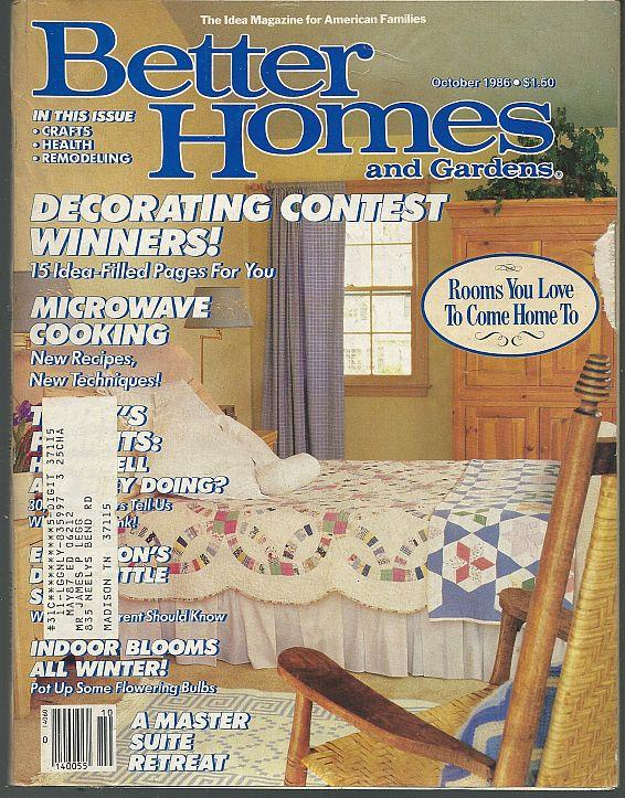 BETTER HOMES AND GARDENS MAGAZINE OCTOBER 1986, Better Homes and Gardens