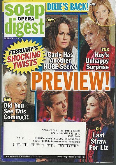 SOAP OPERA DIGEST FEBRUARY 2, 2010, Soap Opera Digest